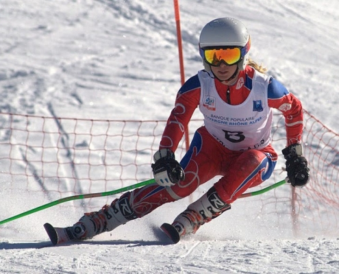 Louise ski compétition