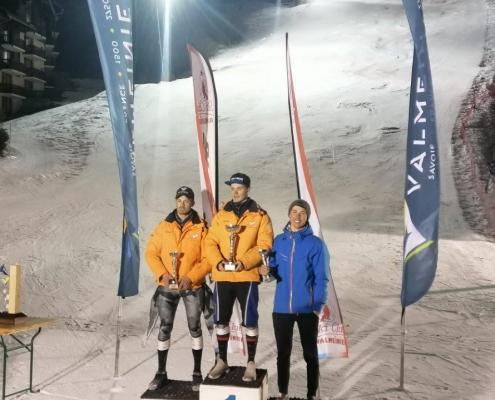 Podium Grand prix Valmeinier